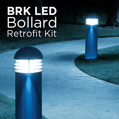 BRK LED, LED bollard retrofit kit, LED lighting fixture for bollard