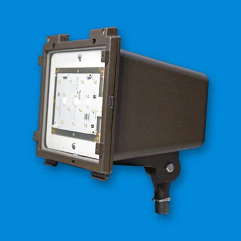 LFL Small, LED lighting fixture, floodlight LED, outside LED, exterior LED lights, LED bulbs, led floodlight, electric and utility poles.