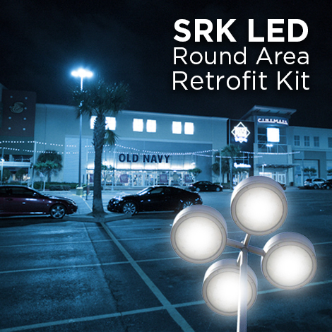 SRK LED round, LED round area light retrofit kit, LED lighting fixture
