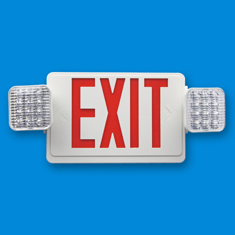 LED Emergency Exit Lights Combo  sc 1 st  XtraLight & LED Emergency u0026 Exit Signs - XtraLight: LED Lighting Solutions