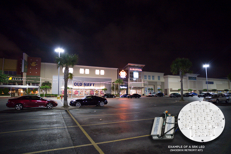 retrofitting vs replacement parking lot lights