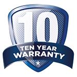 ten year warranty logo XtraLight
