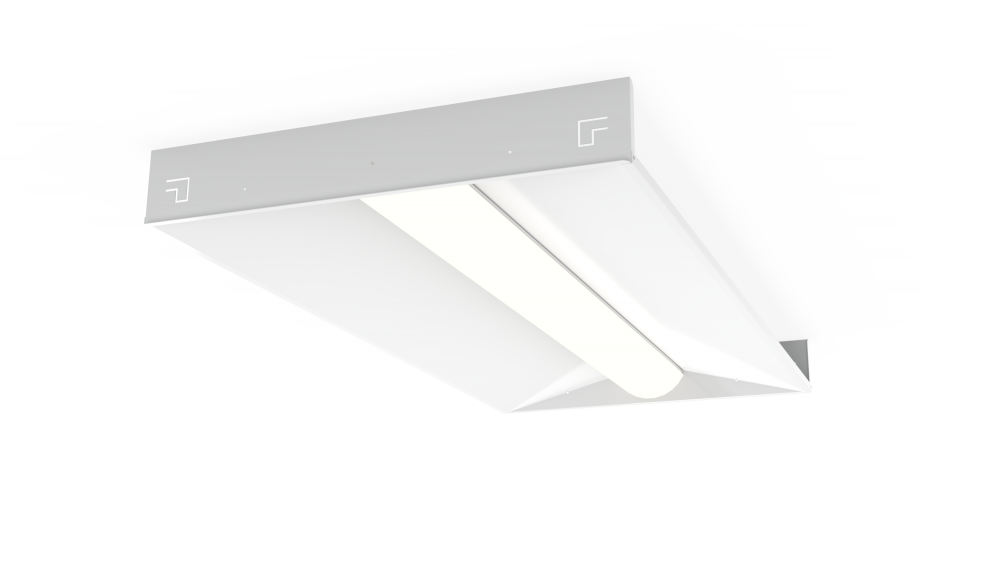 Low Profile Recessed LED Troffer