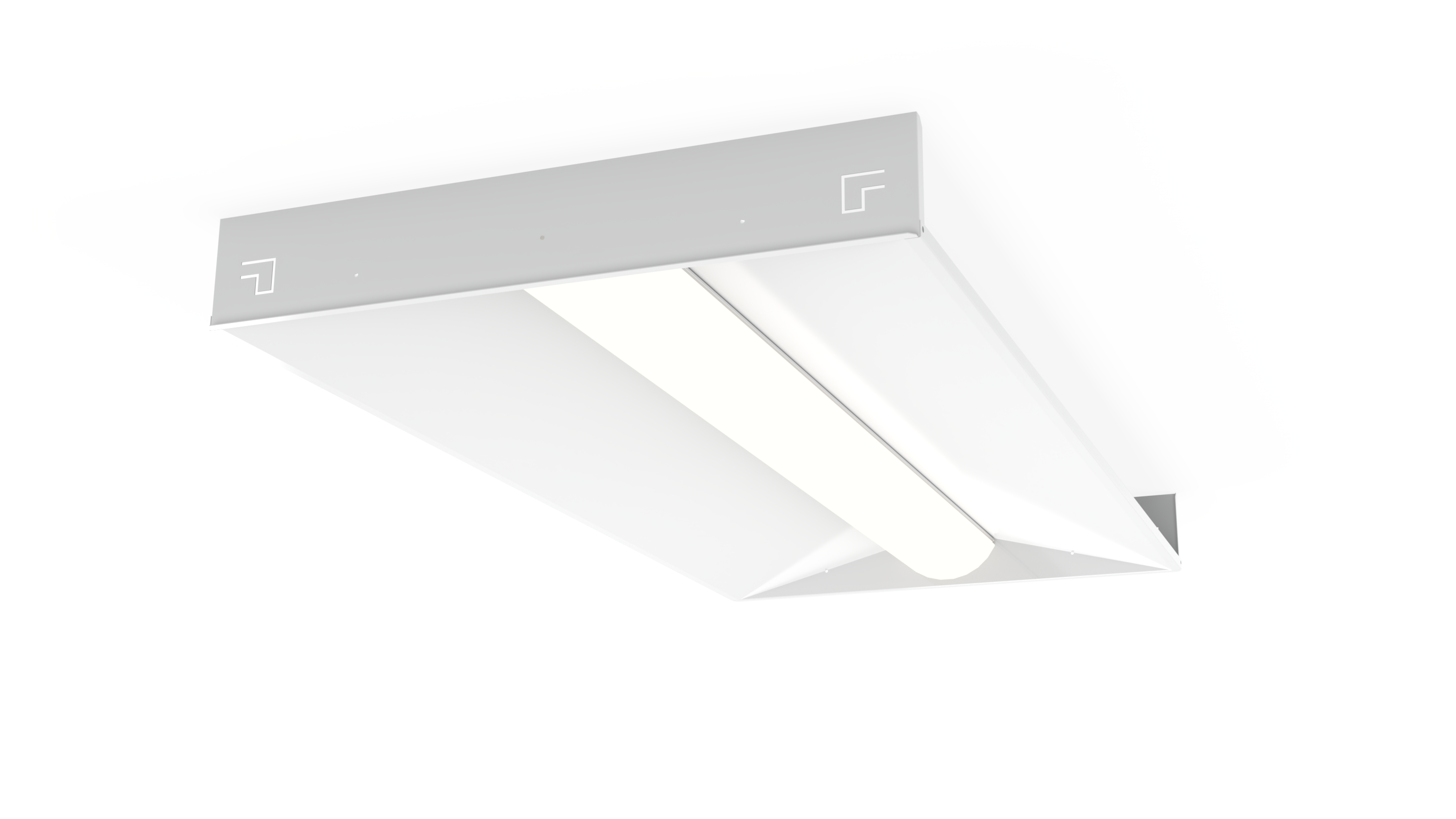 Image of: Low Profile Recessed Troffer Led Tunable White Xxtralight Led Lighting