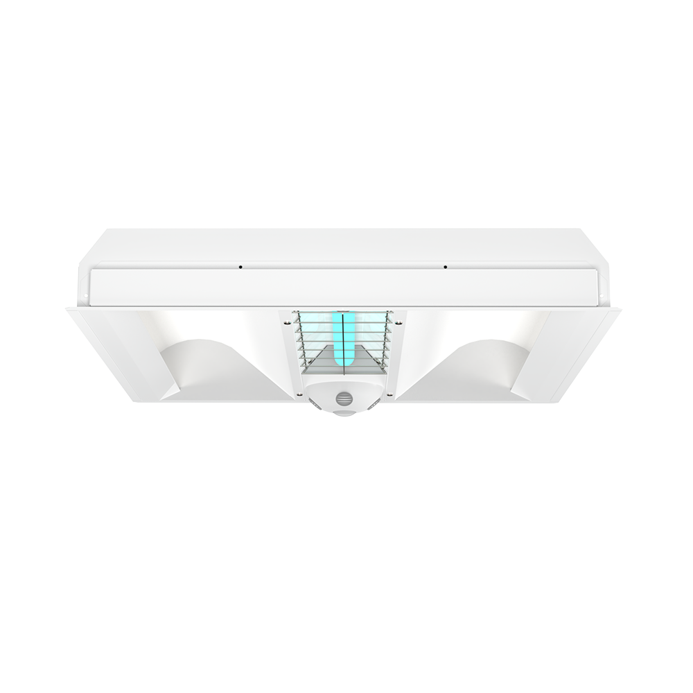 UVC 2x2 Indirect Hybrid Troffer Front View XtraLight Manufacturing, LTD.